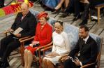 Norway's King Harald, Queen Sonja, Crown Princess Mette-Marit and Crown Prince Haakon